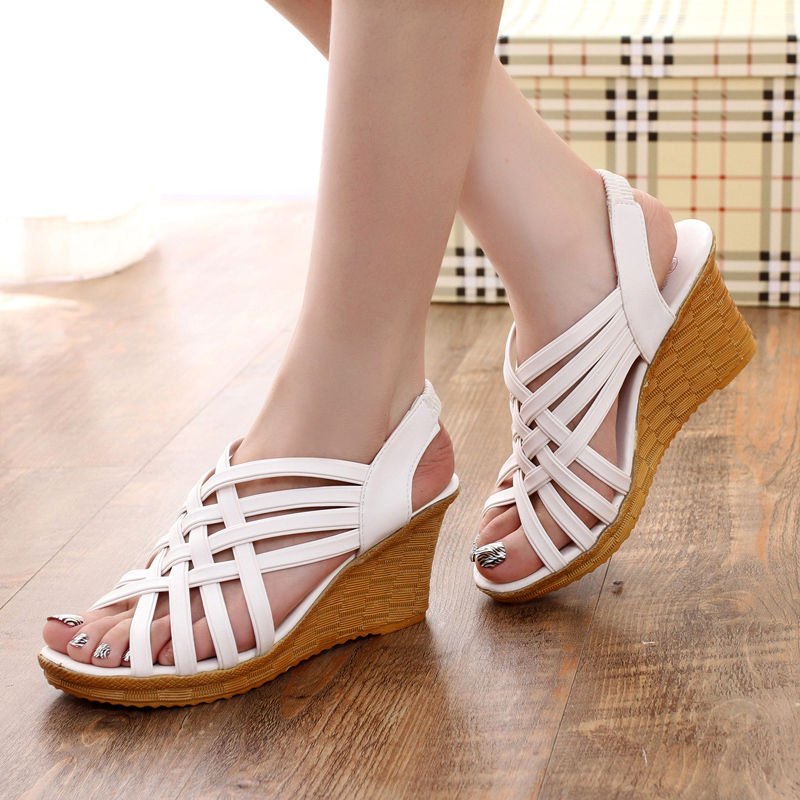 Dwayne Women Sandals Open Toe Platform Summer Shoes For Women Wedge Sandals Platform High Heels Sandals