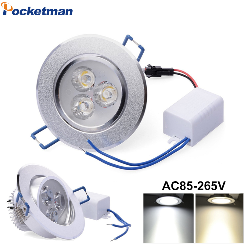 Ultra 9W 12W 15W LED Downlight Dimmable Warm White Nature White Recessed LED Lamp Spot Light AC85-265V Decoration Ceiling Lamp30Ultra 9W 12W 15W LED Downlight Dimmable Warm White Nature White Recessed LED Lamp Spot Light AC85-265V Decoration Ceiling Lamp30