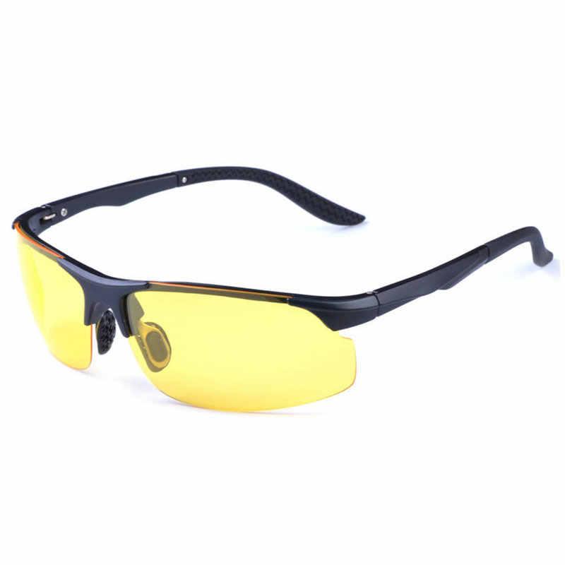 0cbb4ea2fd New 2018 UV400 HD Night Vision Polarized Glasses Fly Driving Sunglasses Eye  glasses Oculos De Sol