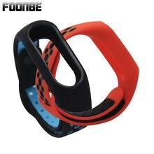 Foonbe для miband 2 браслет пояс Спорт Силиконовый ремешок для Xiaomi 2 Браслет Смарт браслеты Смарт Аксессуары