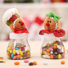 1PCS Christmas Candy Box Sugar Jar Gift Christmas Ornaments New Year Xmas Decoration For Home Party Supplies Enfeites De Natal(China)