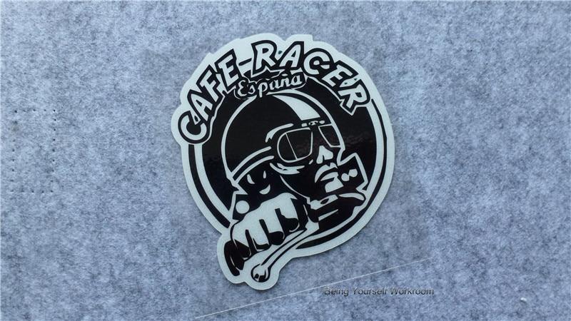 New Cafe Racer Stickers Retro Motocross Sticker
