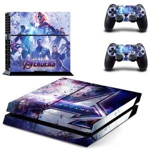 Image 3 - Виниловая наклейка на кожу, Мстители, эндшпиль, Железный человек, Человек паук, PS4, для консоли Playstation 4 и 2 контроллера PS4