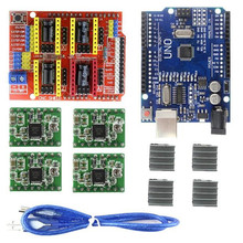 shield v3 engraving machine 3D Printer+ 4pcs A4988 driver expansion board + UNO R3 with USB cable