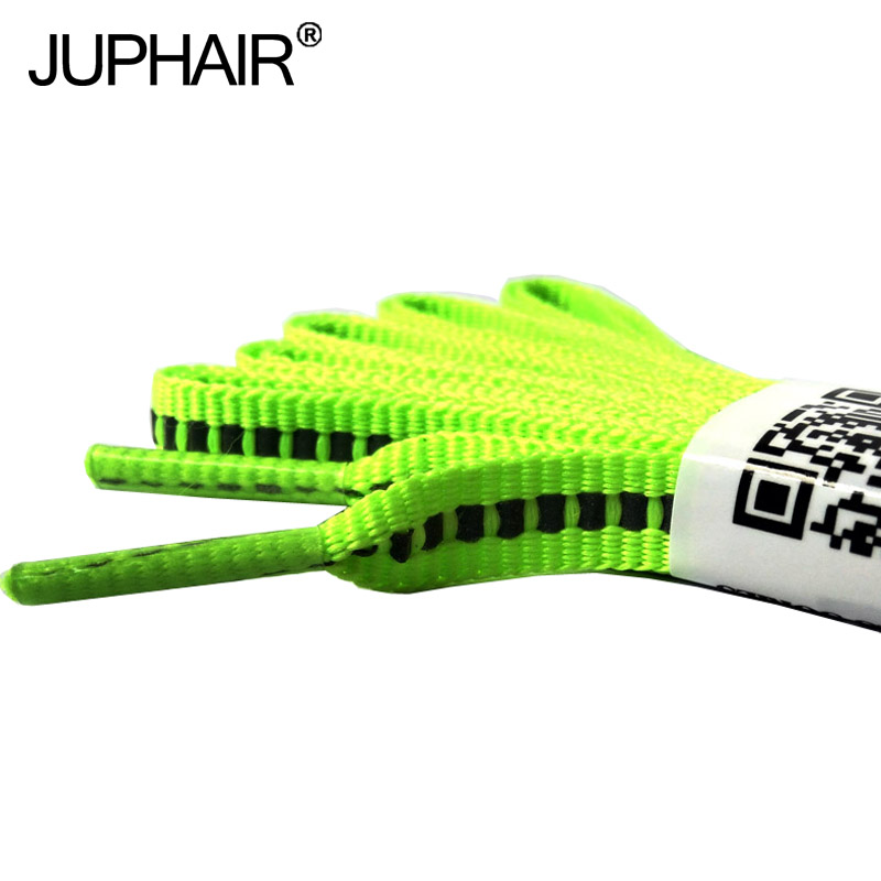 JUP1-12Pair Fluorescent Green Reflective Flat Shoelaces Luminous Safety Shoelaces Not Visible Laces Cords Fashion Party Camping flat stanley goes camping level 2