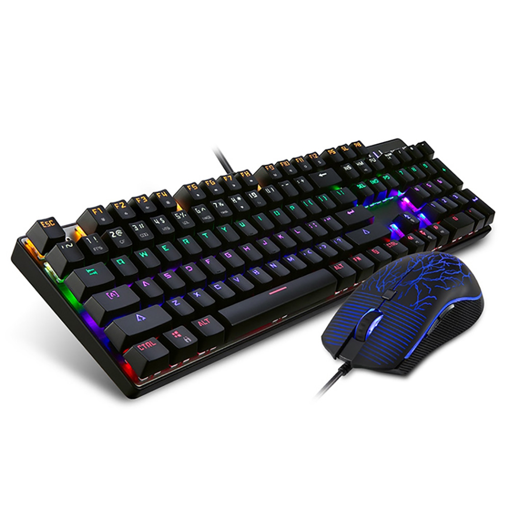 Motospeed CK666 Wired Optical Gaming Keyboard Mouse Combo with LED Backlit 2400DPI Gaming Mouse Gamer Mechanical Keyboard motospeed v30 wired gaming mouse black