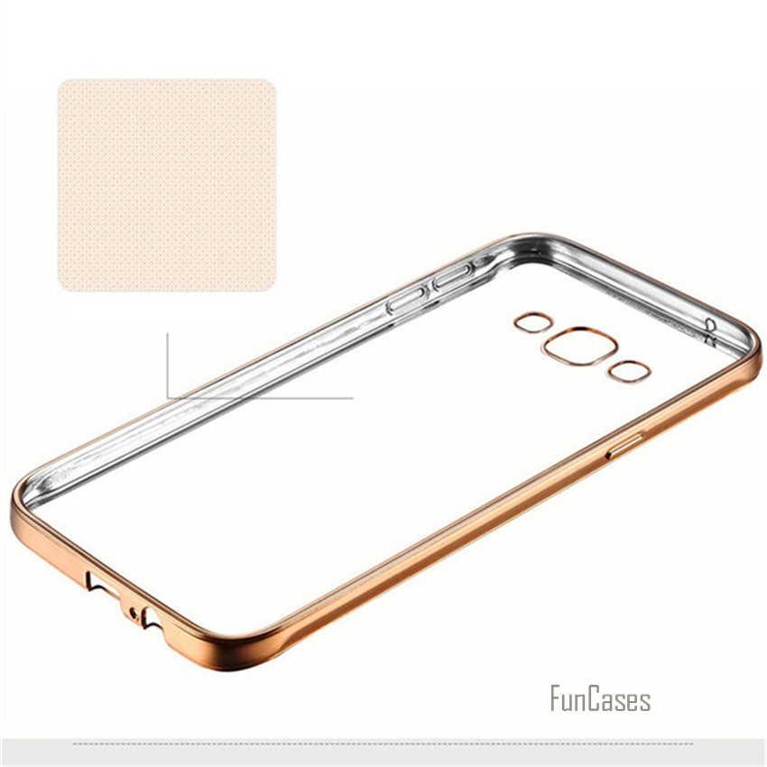Bao Da Dành Cho Samsung Galaxy Note 3 4 5 A3 A5 A510 A7 J1 J3 J5 J7 2015 2016 C5 c7 S6 S7 Edge Plus Thời Trang Cao Cấp Mạ Trường Hợp