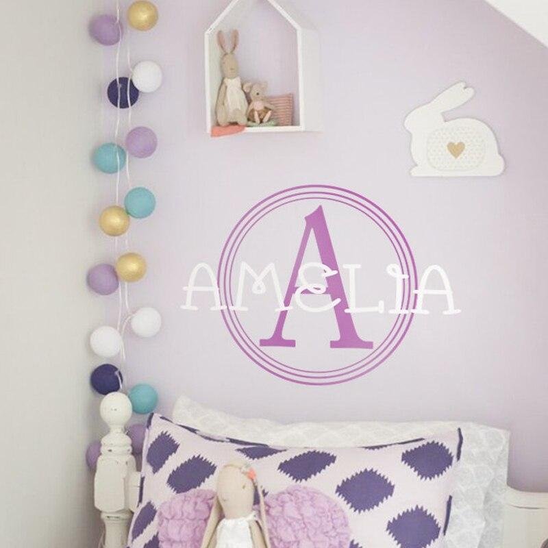 Popular Monogram Wall Decals NurseryBuy Cheap Monogram Wall - Monogram wall decals for nursery