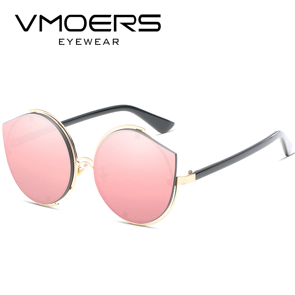 6cc44df56d VMOERS Rimless Cat Eye Sunglasses For Women Blue Pink Blue Mirror Shades  Female Cateye Sun Glasses For Women Luxury Brand Oculos-in Sunglasses from  Apparel ...