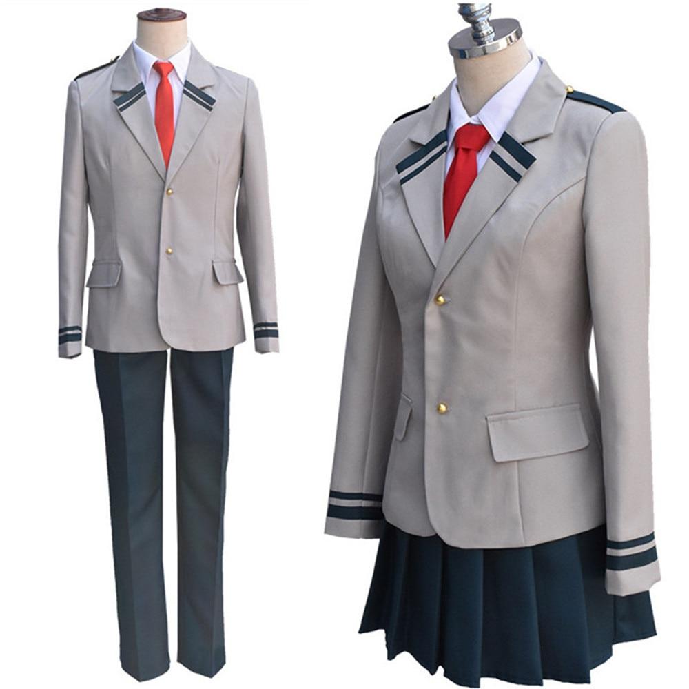 Hero Academia Midoriya Iida Cosplay Costumes Hero Academia Wigs Izuku Midoriya Bakugou Katsuki Top Pants Set
