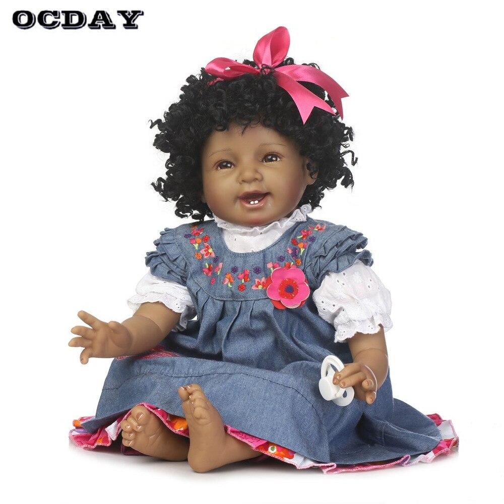 OCDAY 55cm mignon Reborn bébé poupée souple pleine Silicone Surface lisse réaliste nouveau-né poupée 3 Styles poupées pour enfants filles cadeau chaud