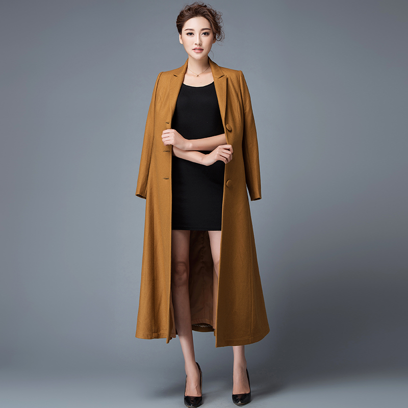 Popular Long Wool Swing Coat-Buy Cheap Long Wool Swing Coat lots ...
