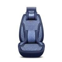 2018 New Flax Universal Car Seat covers 5 auto Cushion Fit ford focus 1 2 3 mk2 mondeo 3 4 mk3 Fiesta Edge Explorer