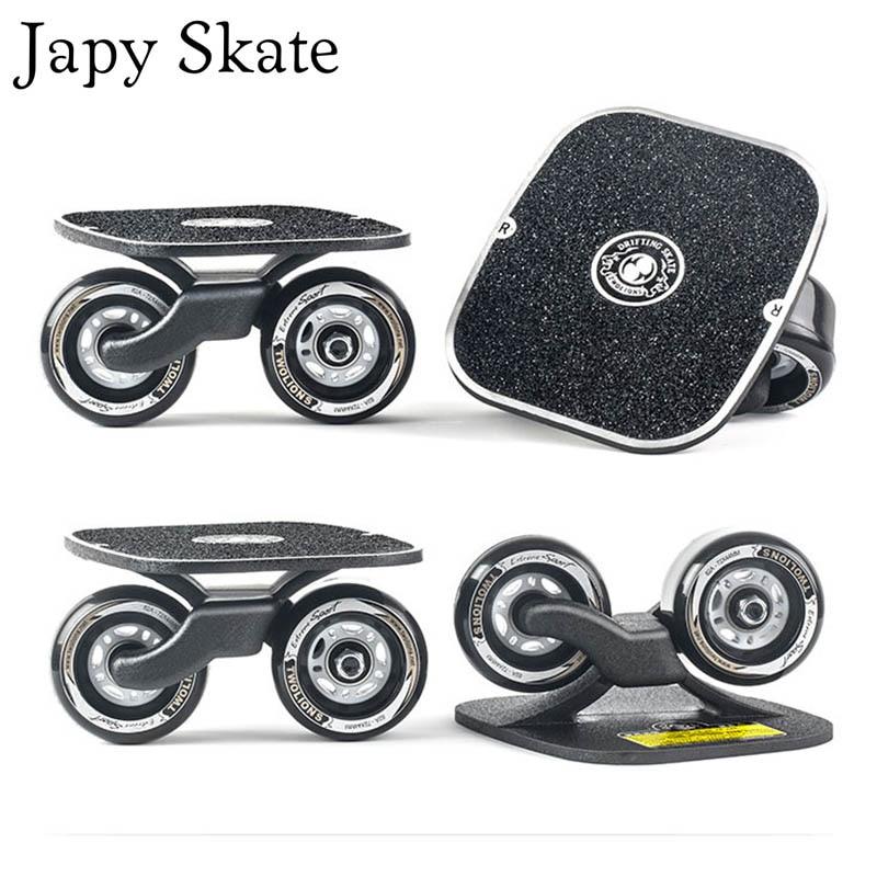 Japy Skate Classic aleación deriva bordo libre de la desviación de la línea de aluminio Patines Scrub Patines Antislip Skate 82A ruedas