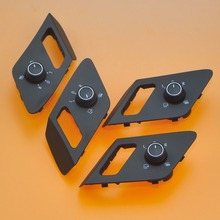 4Pcs Electric Adjustable Mirror Control Switch Heated Exterior Button With Fold Function For VW Golf 7 MK7 5GG 959 565 C