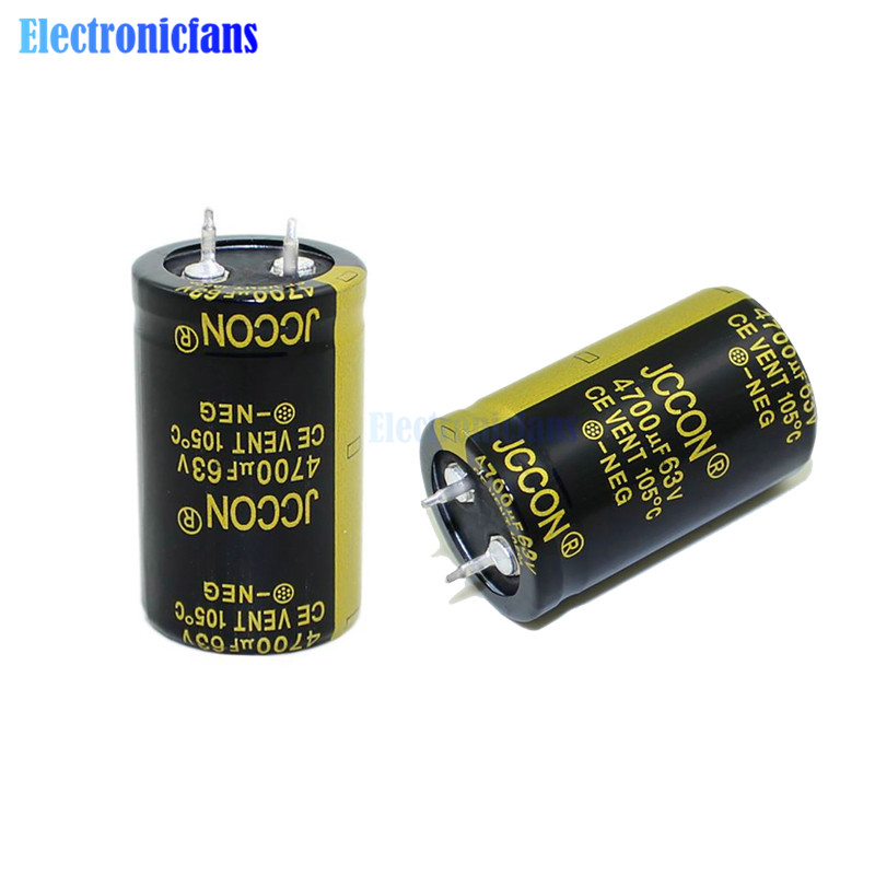 63V 4700uF 25X40mm Aluminum Electrolytic Capacitor High Frequency Low ESR 63V4700UF 25*40mm Through Hole Capacitor Diymore