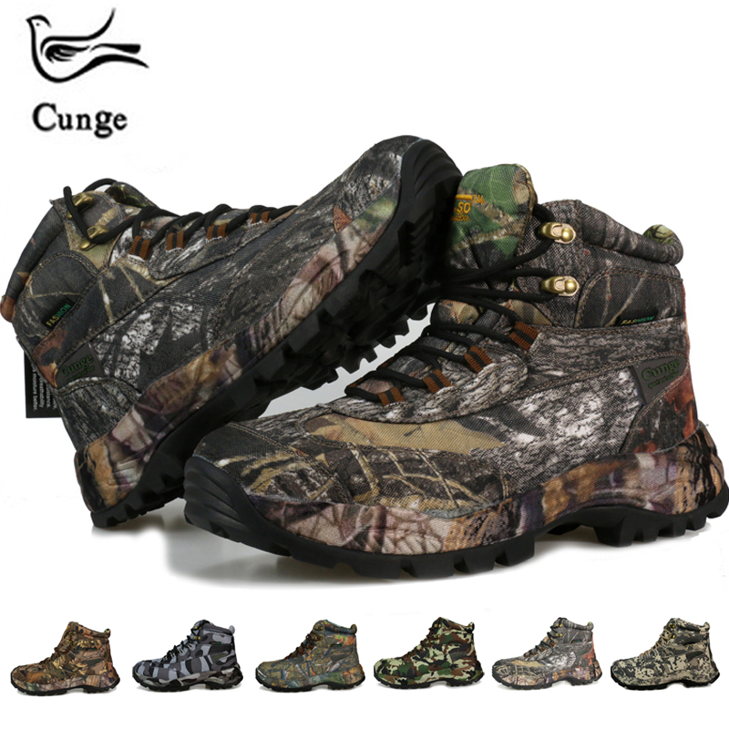 Cunge Sneakers Men Tourism Shoes Hiking Winter Tactical Boots Waterproof Outdoor Trekking Military Shoes Climbing Sport Shoes-in Hiking Shoes from Sports & Entertainment    1
