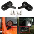 2x de Alta Resistencia Parachoques De Aluminio Holder Soporte Proyector LED de Trabajo Soporte de La Lámpara de la Barra ligera de Conducción 4x4 Para Jeep Wrangler JK 07-15