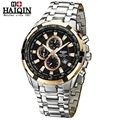 HAIQIN Waterproof Luminous Stainless Steel Chronograph Top Brand Luxury 2016 Men's Watches Quartz-watch Wrist Watches For Men