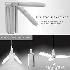 Image 5 - 45W E27 LED ampul SMD2835 228leds süper parlak katlanabilir VANTİLATÖR PERVANESİ açı ayarlanabilir tavan lambası ev enerji tasarruflu ışıklar
