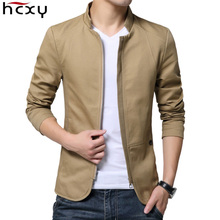 HCXY 2018 New autumn Brand Men's Jacket And Coat Fashion Stand Collar Business Casual Jacket Men Cotton Coat Outwear Size M-5XL