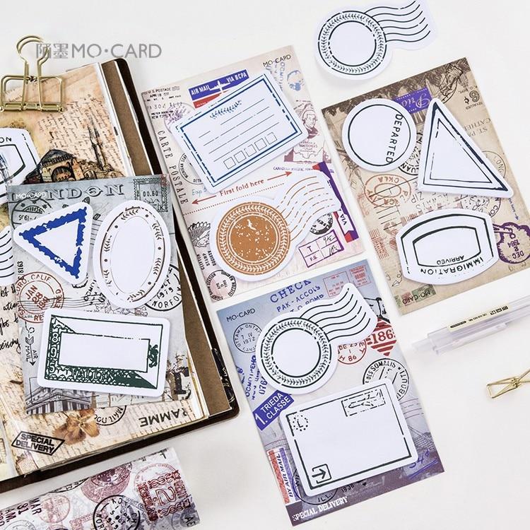 4 unids / set pasaporte de viaje retro vintage estampilla memo nota - Blocs de notas y cuadernos