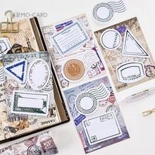 4pcs / set vintage ретро паспортные паспорта марки записная книжка липкая записка разместить его для планировщика kawaii график маркер стикер школы