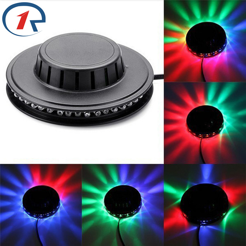 ZjRight 3W UFO auto RGB 48LED Stage Light kids dancing Birthday Christmas Wedding effect light bar ktv DJ disco effect lights