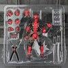 FIGMA X MAN Series Spiderman NO 001 Revoltech Deadpool With Bracket NO 002 Revoltech Spider Man
