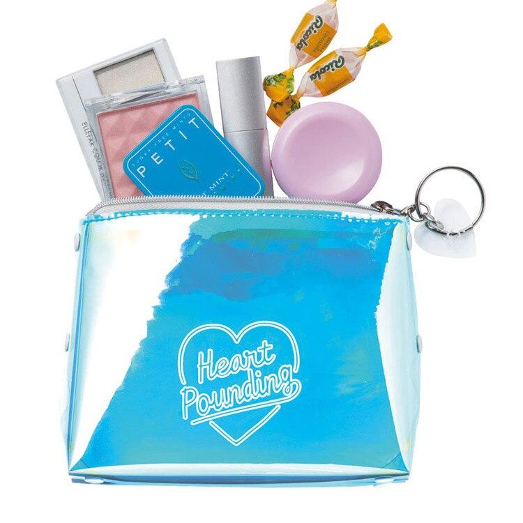 Women Portable Letter Print Laser Transparent PVC Cosmetic Bag Travel Storage Pouch Makeup Bags 17