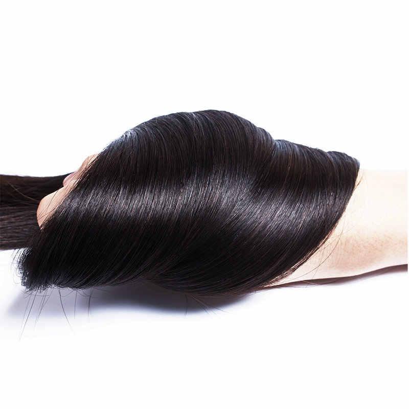 Малазийские прямые пучки волос 100% человеческие девственные волосы натуральный цвет не Реми Yavida не спутываются два пучка волос для наращивания