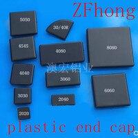 50 adet 20 adet 10 adet Siyah plastik ABS Uç Kapağı AB Alüminyum Kapak Plakası Uç Kapağı için Tek delikli 2020 3030 4040 alüminyum profiller