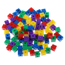 100 шт., детский Строительный набор, складные кубические пазлы, кирпичи для мальчиков и девочек, Обучающие вечерние игрушки, подарок