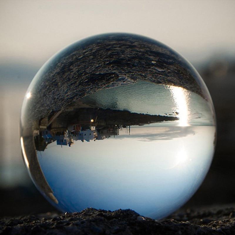 Photography Magic Crystal Ball Clear Glass Ball Lensball Crystal Sphere Feng Shui Home Decor 60/80/100 Mm Glass Balls