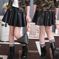 Детская Одежда Девушки Юбки Черный Кожа PU Детские Юбки Для Девочек Хорошее Качество Большие Детская Одежда Для Девочек Детская Одежда