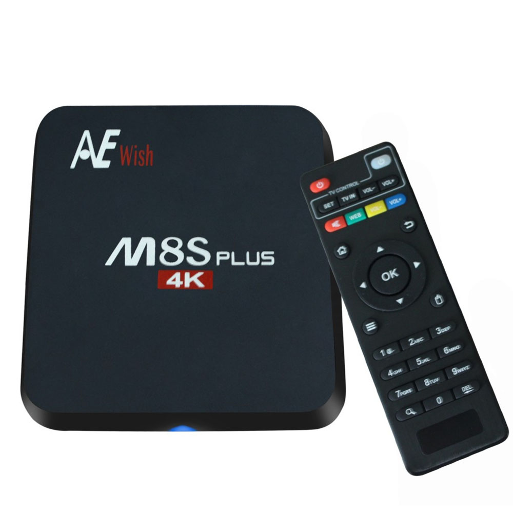 ANEWKODI Android Tv Box M8S PLUS M8s+ Quad-Core Smart TV Amlogic S905 KD 16.0 4K 2G/16G WIFI Full HD Android 6.0 Media Player