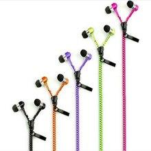 Nouvelle Arrivée Moins Cher Métal Zipper Écouteur 3.5mm In-Ear Écouteur de Câble avec Microphone Stéréo Écouteurs pour Mobile Téléphone MP3/4 # B0