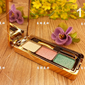 Diamante brillante sombra de ojos del maquillaje naked palette 3 colores de sombra de ojos set maquillaje profesional cosmético con el cepillo maquillage brillo