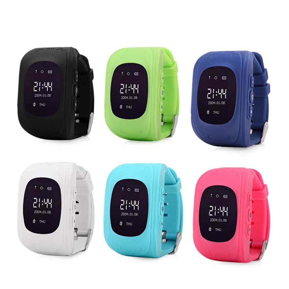 Smart watch Kid Safe <font><b>GPS</b></font> Wristwatch SOS Call Location Finder Locator Tracker Anti Lost Monitor Baby Gift <font><b>Q50</b></font> with OLED/LCD types image