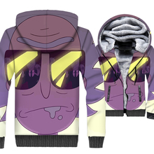 2019 newest 3D Print jackets coats men streetwear harajuku brand tracksuits winter thick wool liner Anime rick and morty hoodies