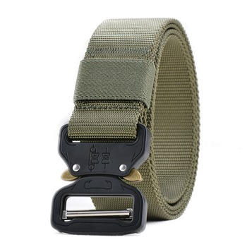125-145CM Tactical Belt Army Military Nylon Belt Automatic Metal Buckle Cinturon Men Waist Strap SWAT Outdoor Hunting Accessory