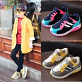 Girls Fashion Breathable Sneakers 2017 Spring Children Sports Striped Shoes Kids Boys Outdoor Trainers Boys Flats Shoes C206