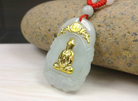 Pendants Jade For Men and Women New Design Guanyin Buddha Gold Jade Pendant For Men Women Hot Sales Unisex Necklace
