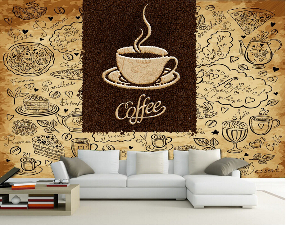 Vintage coffee shop wallpaper images for Purchase wallpaper