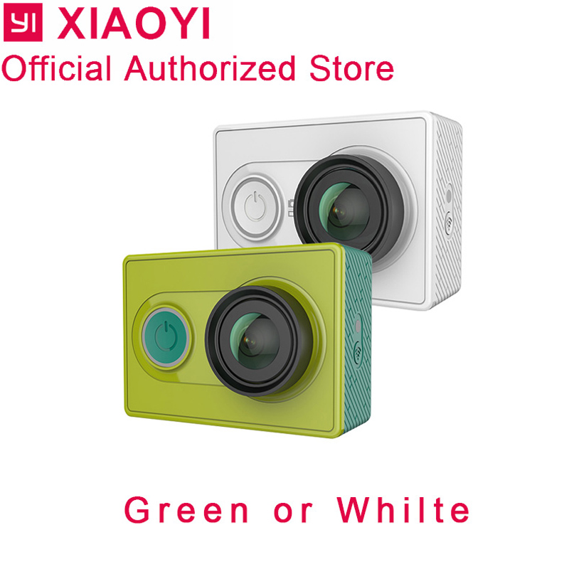 Xiaomi yi yi de ação da câmera 1080 p esporte cam Kamera câmera ao ar livre cartão de memória microsd tf suporte app controle remoto wi-fi câmeras