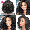 Synthetic Lace Front Wigs With Baby Hair Heat Resistant Short Curly Synthetic Wigs For Black Woman Short Bob Lace Front Wigs