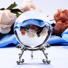 60mm Transparent Glass Ball Quartz Crystal Sphere Globe Miniature For Gifts Table Ornaments Home Decoration Accessories