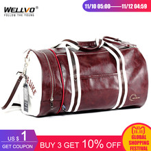 e16e518255 Top Male Travel Luggage Bag with Independent Shoes Storage Women Fitness Bag  PU Leather Printing Basketball