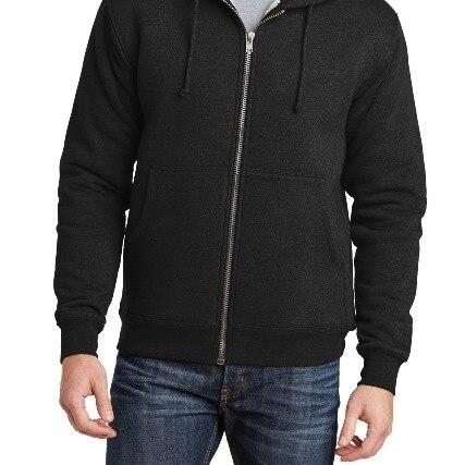 Cornerstone CS625 Heavyweight Sherpa Lined Hooded Fleece Jacket Black - 3XL