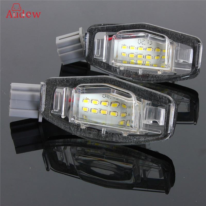 ᗐ2 unids 18 LED Marcos de matrícula luces número f = para Honda ...